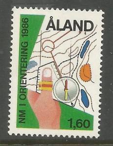 FINLAND, ALAND  ISLANDS 24 MNH, 1986 NORDIC ORIENTEERING CHAMPIONSHIPS