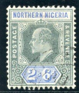 Northern Nigeria 1902 KEVII 2s 6d green & ultramarine very fine used. SG 17.