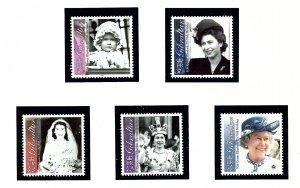Gibraltar 875-79 MNH 2001 Queen Elizabetth II 75th Birthday   (KA)