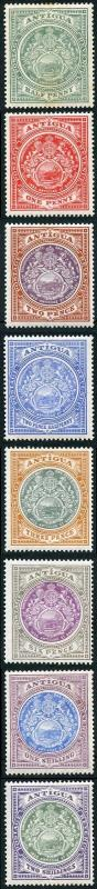 Antigua SG41/50 1908-17 KEVII Set of Eight Wmk Mult Crown CA M/M