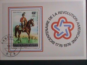 CENTRAL AFRICA-1977 BICENTENARY OF AMERICAN REVOLUTIONARY-CTO S/S VERY FINE