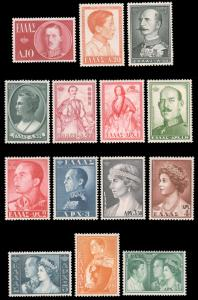 Greece 1957 ROYAL FAMILY SET MNH #604-617 and ex Perfectum CV$121.50 [65803]