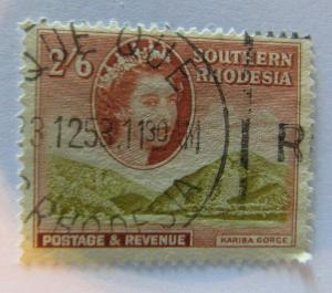 1953 Southern Rhodesia SC #91  KARIBA GORGE  Used stamp