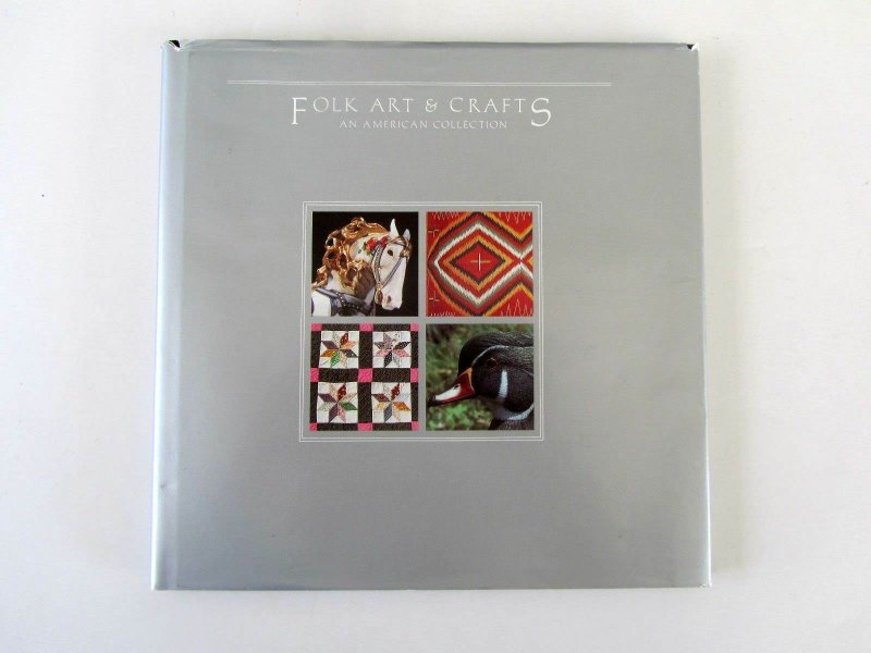 USPS Folk Art& Crafts, 42 pages w/32 Stamps, Mint/NH all in Mounts, Hardcover