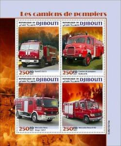 2021/05- DJIBOUTI - FIRE ENGINES          4V complet set    MNH ** T