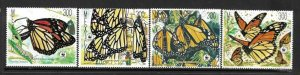 1988    MEXICO  -  SG.  1895 / 1898  -  MONARCH BUTTERFLY  -  MNH