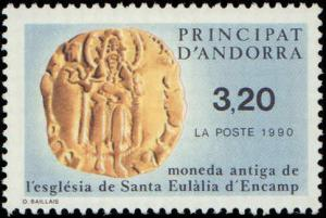1990 Andorra, French #398, Complete Set, Never Hinged