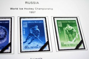 COLOR PRINTED RUSSIA 1950-1959 STAMP ALBUM PAGES (92 illustrated pages)