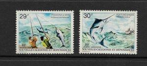 FISH - NEW CALEDONIA #C153-4  SPORT FISHING  MNH