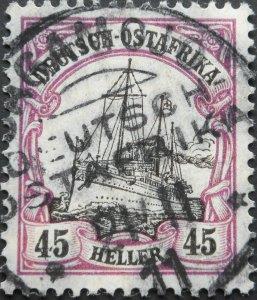 German East Africa 1905 Forty Five Heller with BAGAMOJO postmark
