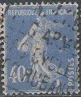 France 180 (used) 40c sower, lt ultra (1928)