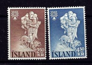 Iceland 325-26 Hinged 1960 set