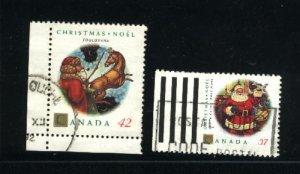 Canada #1452, 1455   -3   used 1992 PD
