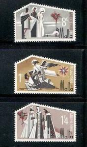 Malta 1968 Odd shaped, Christmas, Angels, Belthlehem MNH** # 1746