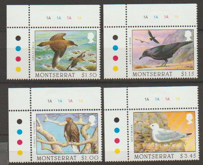 Montserrat SG 1029 - 1032 set of 4  MVLH - Birds