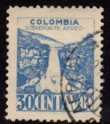 Columbia - #C138 Tequendama Waterfall   - Used