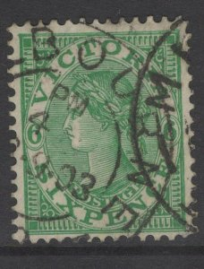 VICTORIA SG392 1901 6d EMERALD USED