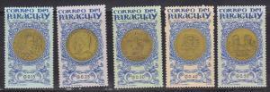 Paraguay # 858-862, Medallions, Mint NH, Short Set