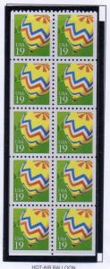 United States Sc 2530a 1991 19 c Balloon stamp booklet pane mint NH
