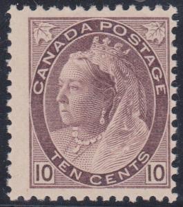 Canada - #83 mint 10c QV original gum, fine, hinged
