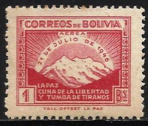 Bolivia Air Mail 1947 Scott# C113 MH (toning)