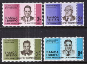 Samoa MNH 259-62 5th Anniversary Of Independence 1967