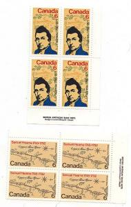 Canada - 1971 Papineau & Hearne MS Imp. Blks mint #539-540 VF-NH