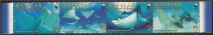 St Vincent Mayreau - 2009 Spotted Eagle Ray-Strip of 4 Stamps-19J-016