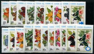 HERRICKSTAMP COOK ISLANDS Sc.# 1215-26H Butterflies Stamps