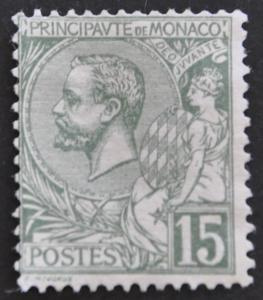 DYNAMITE Stamps: Monaco Scott #15 – UNUSED