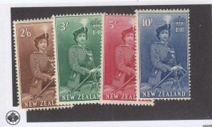 NEW ZEALAND VF-MLH 1953-54 QE 11 HIGH VALUES TO 10/-