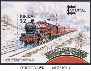KIRIBATI - 1996 CAPEX '96 RAILWAY LOCOMOTIVE MIN/SHT MNH SPECIMEN