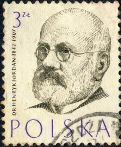 POLOGNE / POLAND 1957 Mi1014 3 Zl Henryk Jordan (1842-1907), Gynecologist - VFU