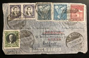 1936 Los Andes Chile Airmail Cover to Zurich Switzerland 3