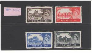 GREAT BRITAIN:Sc.309-12/**QEII- CASTLES DEFINTIVES**/MOUNTED MINT-MLH/2 IMAGES