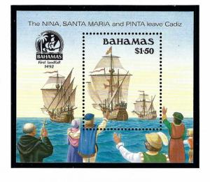 Bahamas 692 MNH 1990 Discovery of America S/S