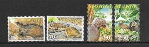 BIRDS - NIUAFO'OU #241-4  MNH