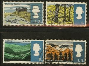 Great Britain Scott 454-7 used 1966  set