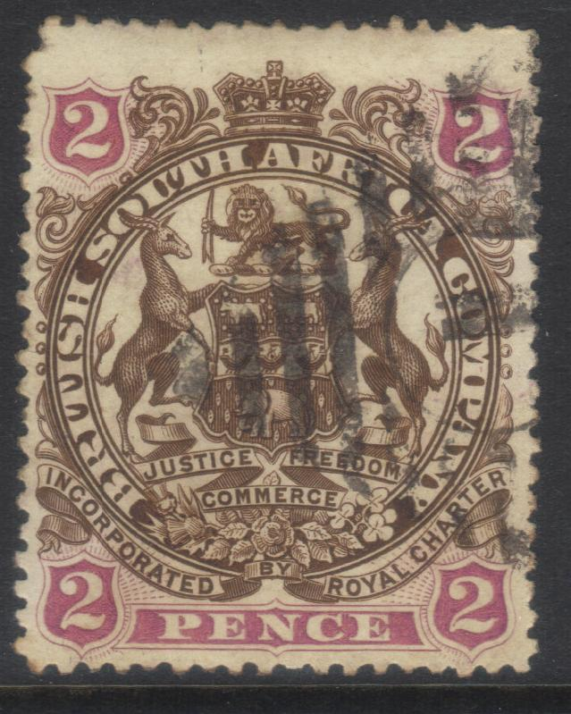 RHODESIA 1896-1897 SG43 USED CAT £12