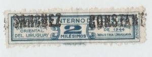 Uruguay Revenue Fiscal stamp 9-25-21