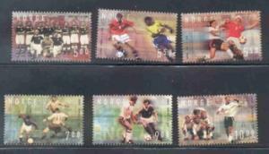 Norway Sc 1340-5  2002 Soccer Assoc stamp set mint NH