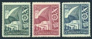 Czechoslovakia 322-324, MNH. Michel 512-514. Reconstruction plan, 1947.