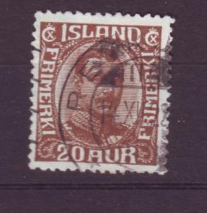 J19124 Jlstamps 1920 iceland used #119 christian x