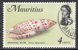 Mauritius #341a QE II & Fish Used