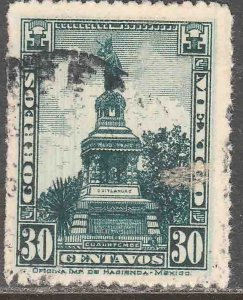 MEXICO 641, 30¢ CUAUHTEMOC MONUMENT Unwmk USED. VF.  (391)