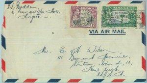 83373  - JAMAICA - POSTAL HISTORY - PROPAGANDA Postmark on COVER to USA  1948