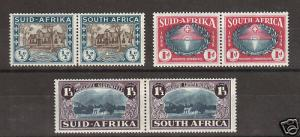 South Africa Sc B9-B11 MLH. 1939 Hougenots, cplt set, F-VF