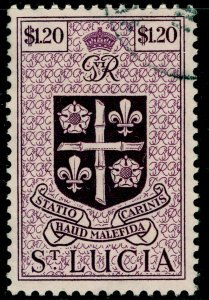 ST. LUCIA SG157, $1.20 purple, VERY FINE USED. Cat £12.