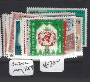 PAKISTAN  (P3001B)  SG 242-259     MOG