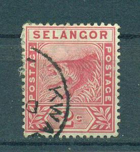 Malaya - Selangor sc# 25 used cat value $1.25
